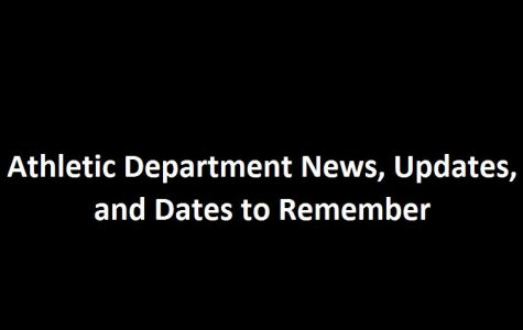 Athletic Department News, Updates, and Dates to Remember