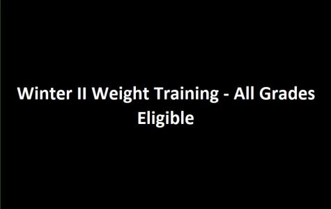 Winter II Weight Training — All Grades Eligible