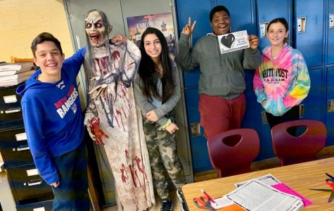 """Ms. Dillon and Ms. Garschina did an Escape Room on Edgar Allan Poe's story """"The Tell-Tale Heart"""" with our 8th grade students."""